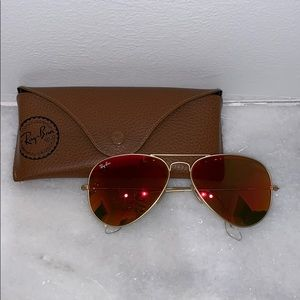 Orange Mirrored Ray Ban Sunglasses